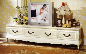 简欧风格精致客厅电视柜设计装修效果图