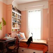 5平米简欧风格书房飘窗设计装修效果图