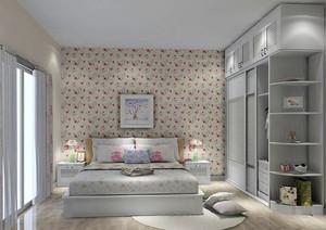 田园风格自然舒适卧室壁纸装修效果图大全