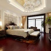 复古华丽欧式风格大户型卧室吊灯设计装修效果图