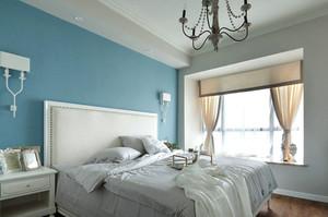 地中海风格简约风格卧室背景墙装修效果图