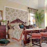 复古欧式田园风格女生卧室装修效果图