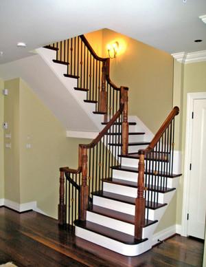现代简约风格复式楼楼梯设计效果图