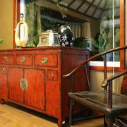 古朴东南亚风格玄关橱柜设计装修效果图赏析