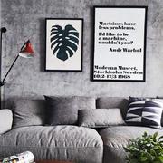 北欧风格简约风格灰色主题客厅沙发设计效果图