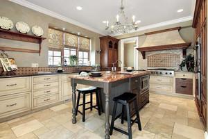 300平米别墅欧式风格超豪华厨房设计装修效果图