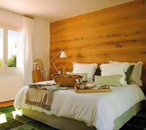 现代简约风格清新卧室背景墙装修效果图