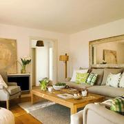 现代乡村风格客厅设计装修效果图赏析