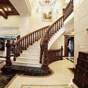 300平米欧式风格精致别墅楼梯设计装修效果图