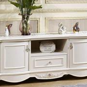 简欧风格客厅精致橱柜设计装修效果图