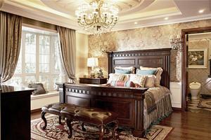 古典欧式风格卧室飘窗设计装修效果图赏析