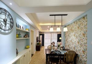 91平米简约地中海风格客厅设计装修效果图