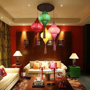 东南亚风格充满异域风格客厅吊灯设计效果图