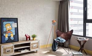 139平米现代工业风格三室两厅装修效果图