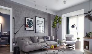 135平米北欧风格简约三室两厅装修效果图赏析