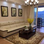 美式风格大户型客厅吊顶装修设计