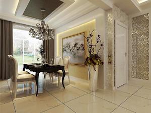 145平米欧式风格开放式客厅设计效果图