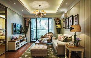 古典欧式田园风格两室两厅设计装修效果图