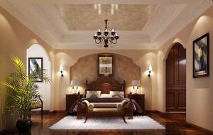260平米美式风格复式楼室内设计装修效果图