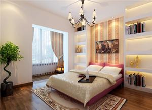 90平米新中式风格两室两厅装修效果图鉴赏
