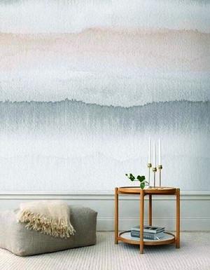 小户型后现代风格创意手绘背景墙设计效果图赏析