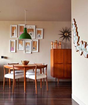 105平米日式风格餐厅背景墙设计装修效果图赏析