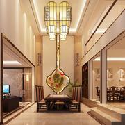 现代中式风格别墅餐厅装修效果图赏析