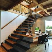 现代loft风格复式楼楼梯设计装修效果图赏析