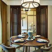 中式风格大户型餐厅装修效果图赏析