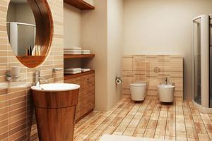 现代中式大户型卫生间装修效果图赏析
