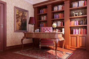 古典美式风格别墅书房装修效果图赏析