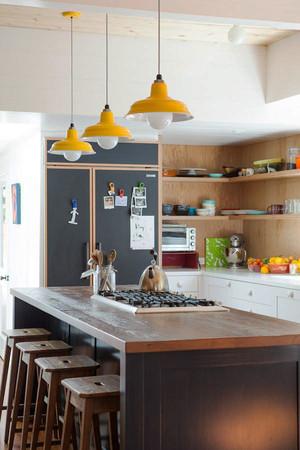 现代简约风格小户型厨房吧台装修设计效果图赏析