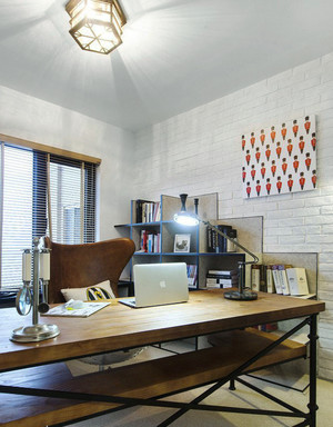 85平米现代风格书房装修效果图赏析