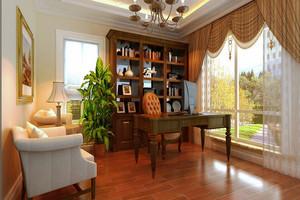 115平米欧式风格书房装修设计效果图赏析