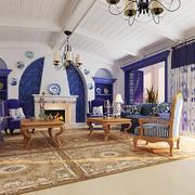 地中海风格别墅客厅装修效果图赏析