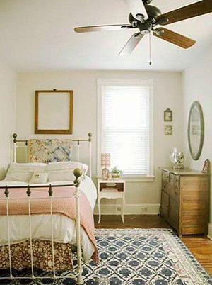 120平米美式风格阁楼女生卧室装修效果图赏析