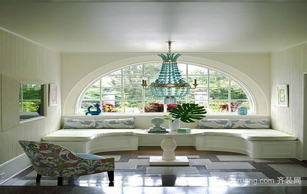 120平米简欧风格飘窗装修设计效果图赏析