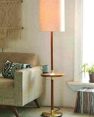80平米北欧风格客厅落地灯设计效果图鉴赏