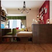 110平米美式风格书房榻榻米装修效果图赏析