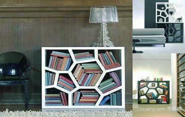 150平米现代风格创意书房书架设计效果图赏析