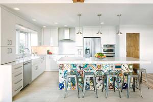 现代风格二居室厨房装修效果图赏析