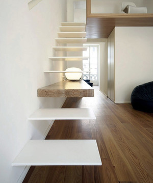 北欧风格复式楼楼梯设计效果图赏析