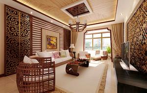 东南亚风格大户型整体装修效果图赏析