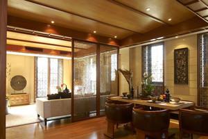 东南亚风格大户型客厅餐厅隔断设计效果图赏析