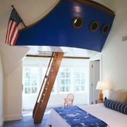 活泼唯美的大户型儿童房装修效果图欣赏