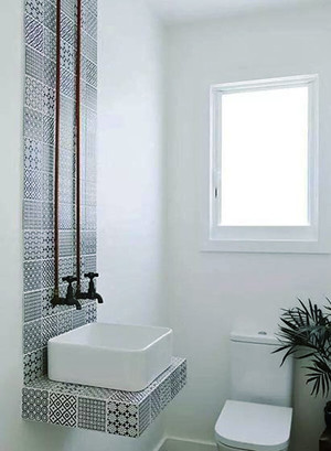80平米极简主义风格卫生间洗漱台效果图赏析