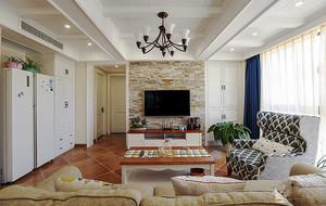 110平米美式风格室内装修效果图赏析