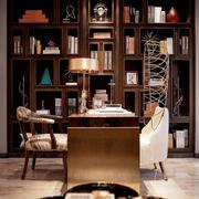 110平米美式风格书房装修效果图赏析