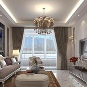欧式风格大户型客厅装修效果图鉴赏