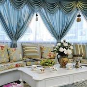 复式楼时尚欧式风格飘窗设计装修效果图
